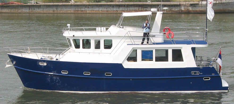 TRAWLER YACHT 48, trawlers, passagemakers, live-aboard, Bruce Roberts, steel boat kits, boat ...