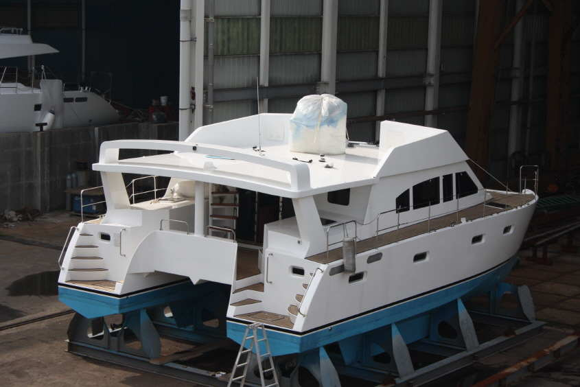 Bruce roberts catamaran boat plans catamaran boat for Boat house blueprints