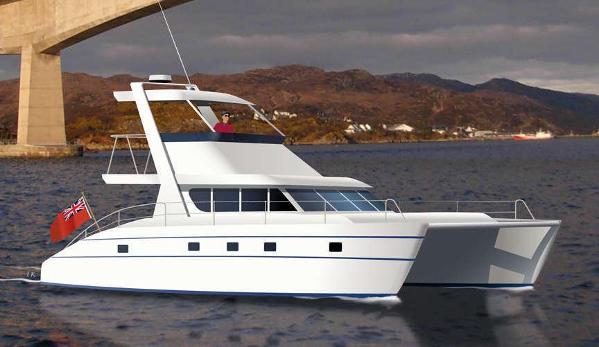 CATAMARAN PLANS, Boat plans Cat 46 fiberglass