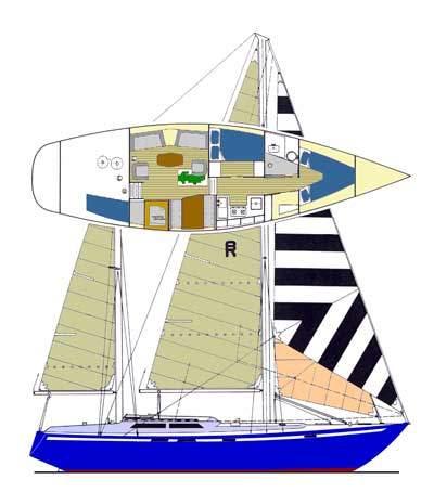 sailboat data bruce roberts 43 mauritius